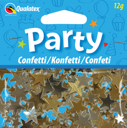 Gold and Silver Stars Qualatex Confetti 12g